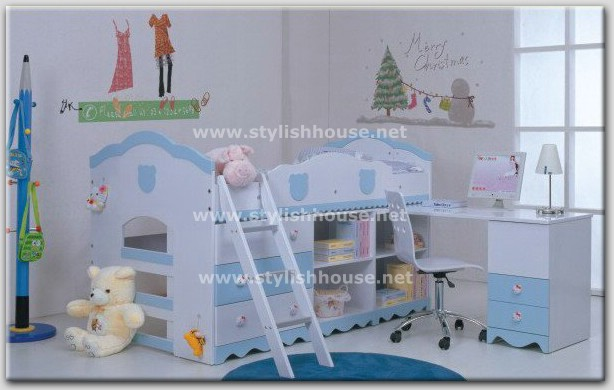 Fashionable and coordinated Bedroom for little kids