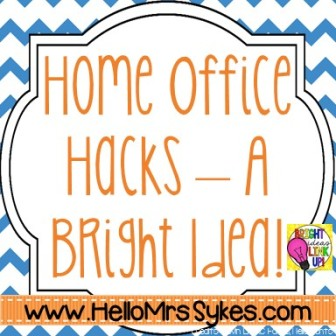 im so excited to be back with the bright ideas group today im sharing a few of my favorite hacks for my home office bright idea home office ideas