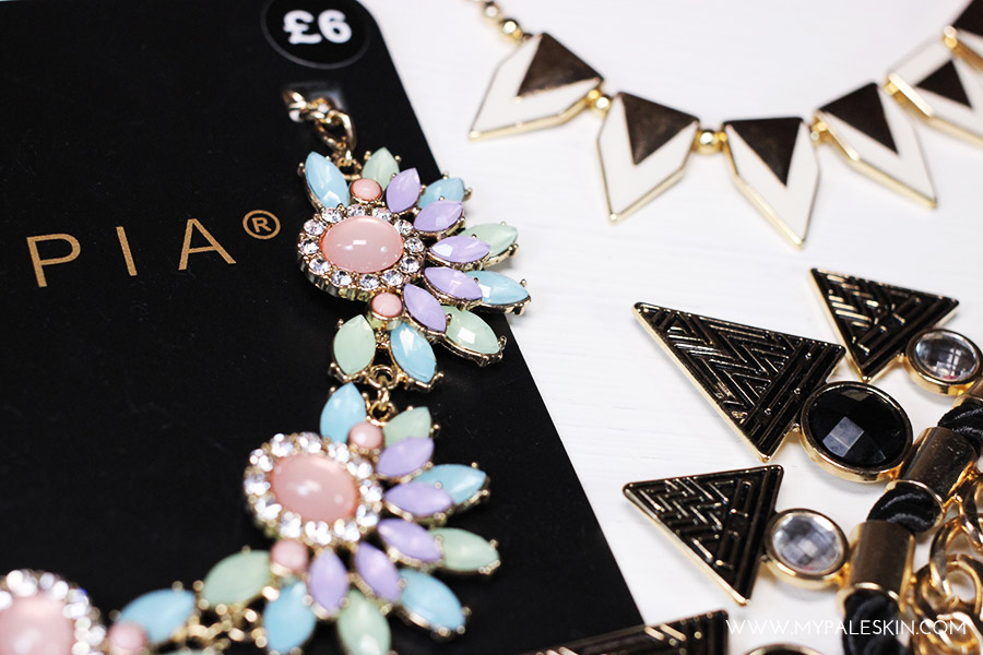 statement necklaces, primark jewellery haul