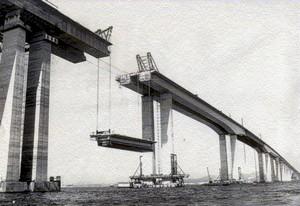 Construção Ponte Rio Niteroi