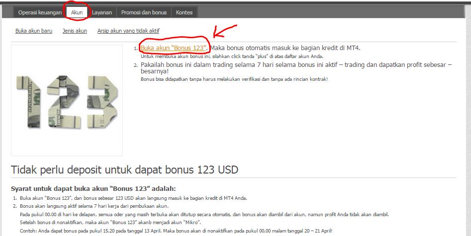 Forex trading free bonus
