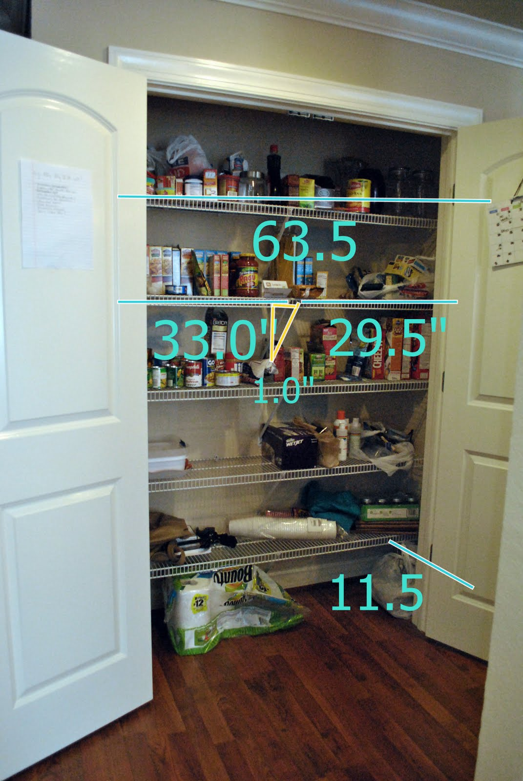 Marvelous photograph of PBJstories: Pantry Project Update Wood Shelves with #1CAFA0 color and 1071x1600 pixels
