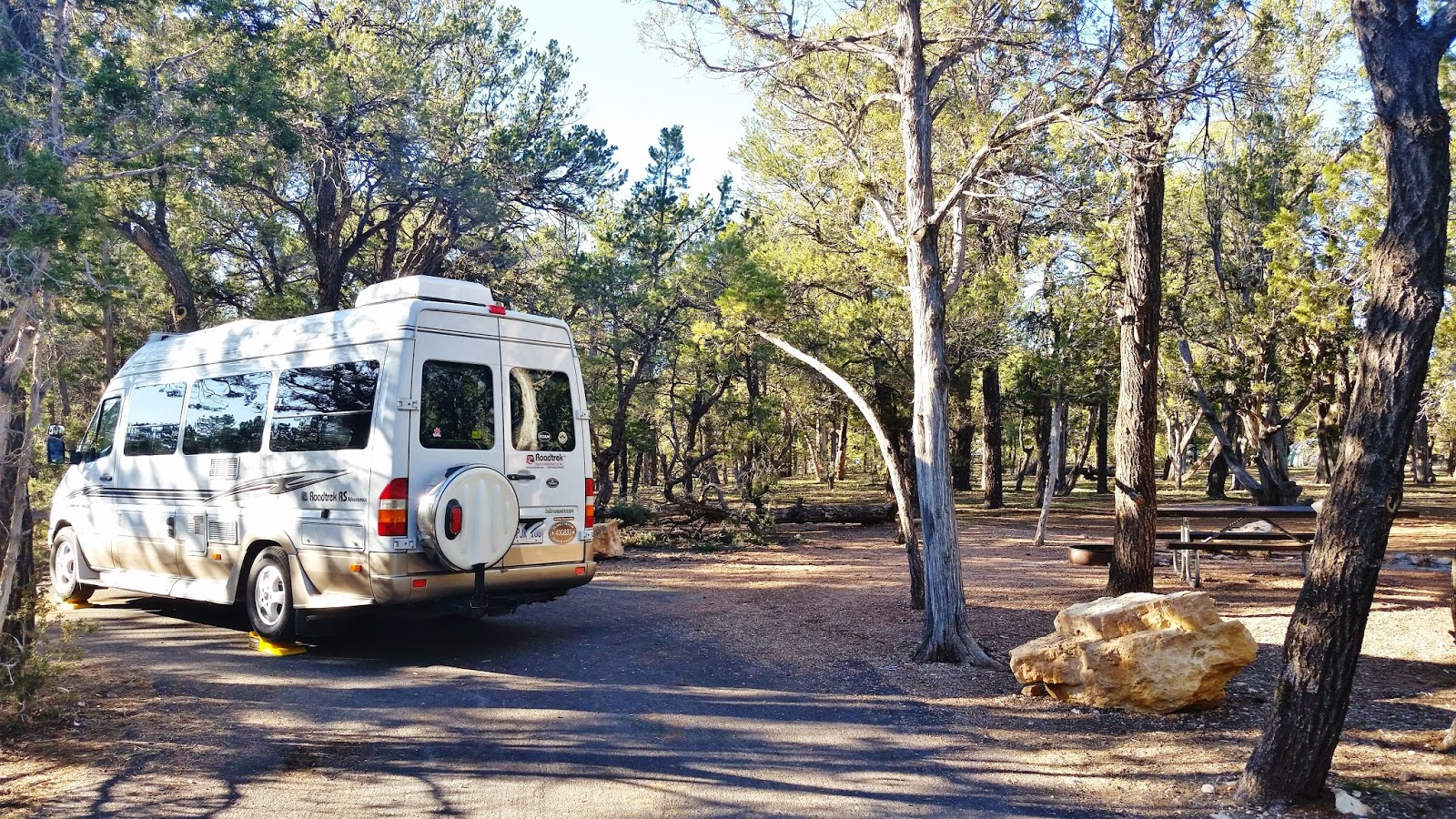 this campground exceeded our expectations only tents and rv s 29ft or less in length are permitted the sites were large with a picnic table and fire pit