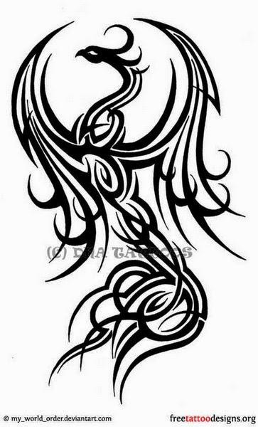 Tribal Phoenix Tattoo Ideas