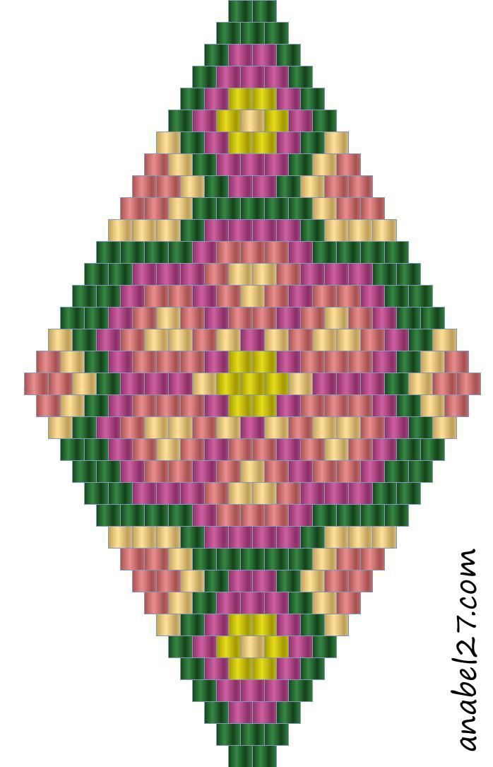 Схемы ромбов мозаичное плетение бисером.