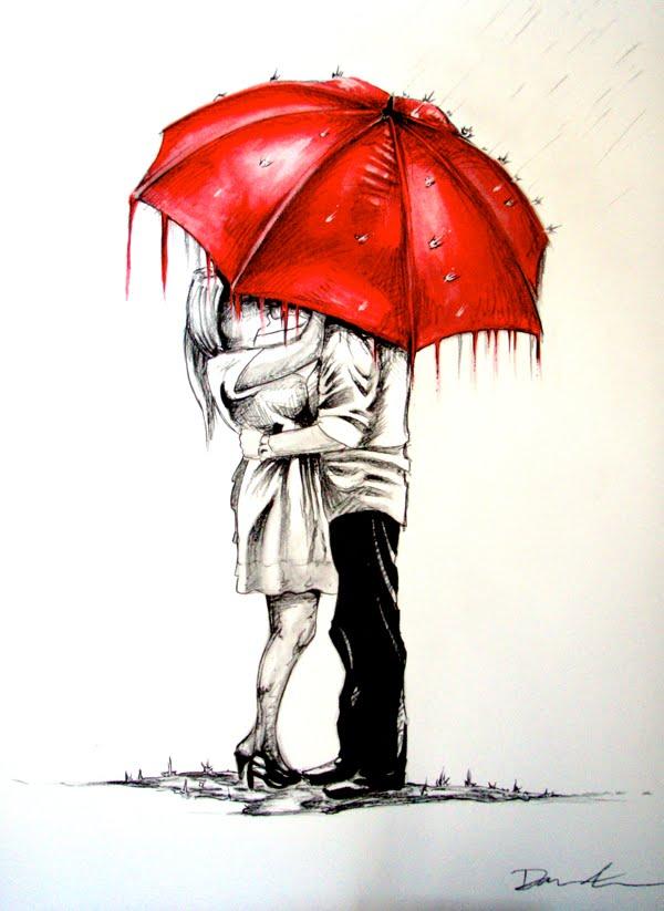 D.Silva Designs: A kiss in the rain