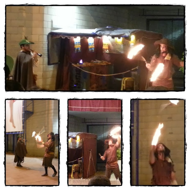 Mercado medieval actuación farándula