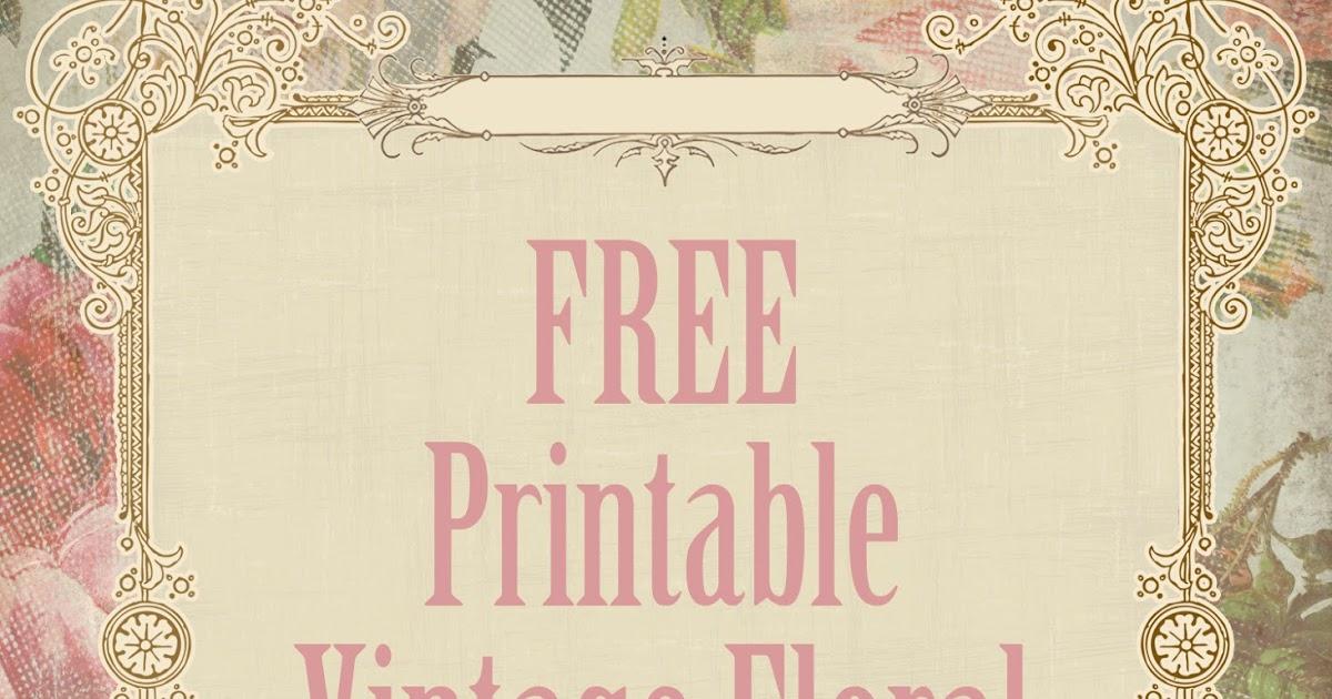 free printable party invitations  victorian vintage floral