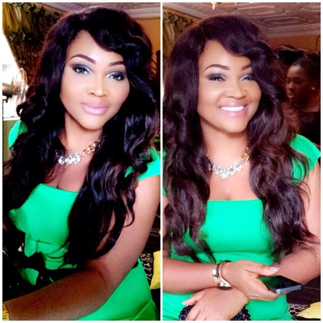 Photos: Mercy Aigbe's Amazing Green Look