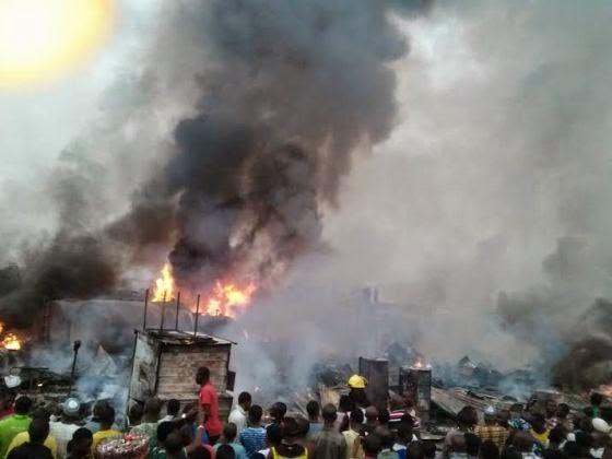 Graphic photos: Fire at Mile 12 'Diesel Black Market'  00