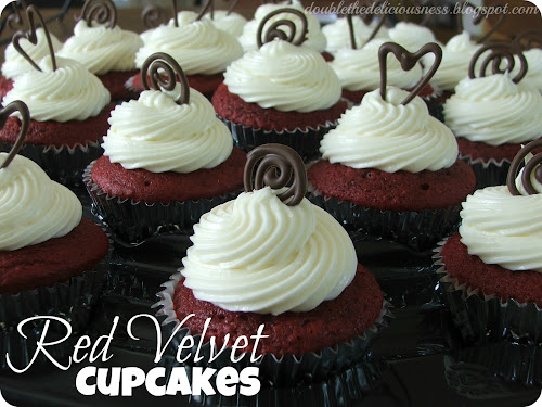 ... the Deliciousness: Red Velvet Cupcakes with Cream Cheese Frosting