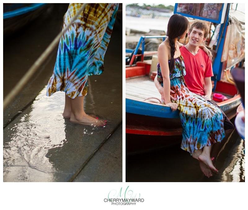 honeymoon photos on longtail boat, thai long tail boat, koh samui long tail boat, wedding photographer in thailand,
