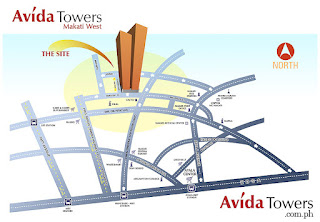 Avida Towers Makati West Vicinity Map