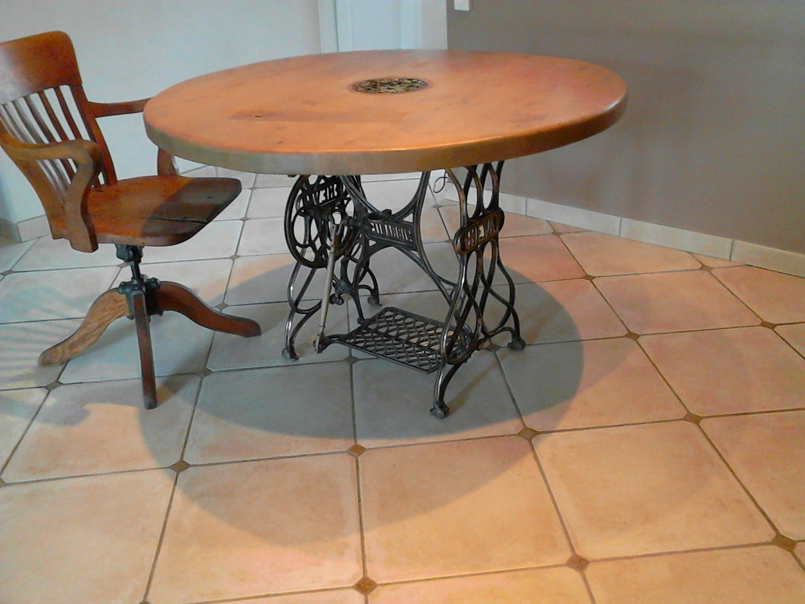 Meubles et objets de d coration style industriel table de - Pied de table style industriel ...