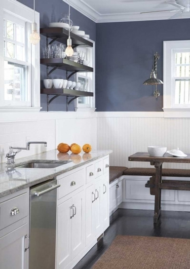 belle maison In the Kitchen Open Shelving vs Cabinets