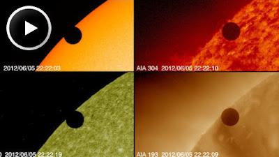 Imágens de SDO de la Nasa del tránsito de Venus 2012