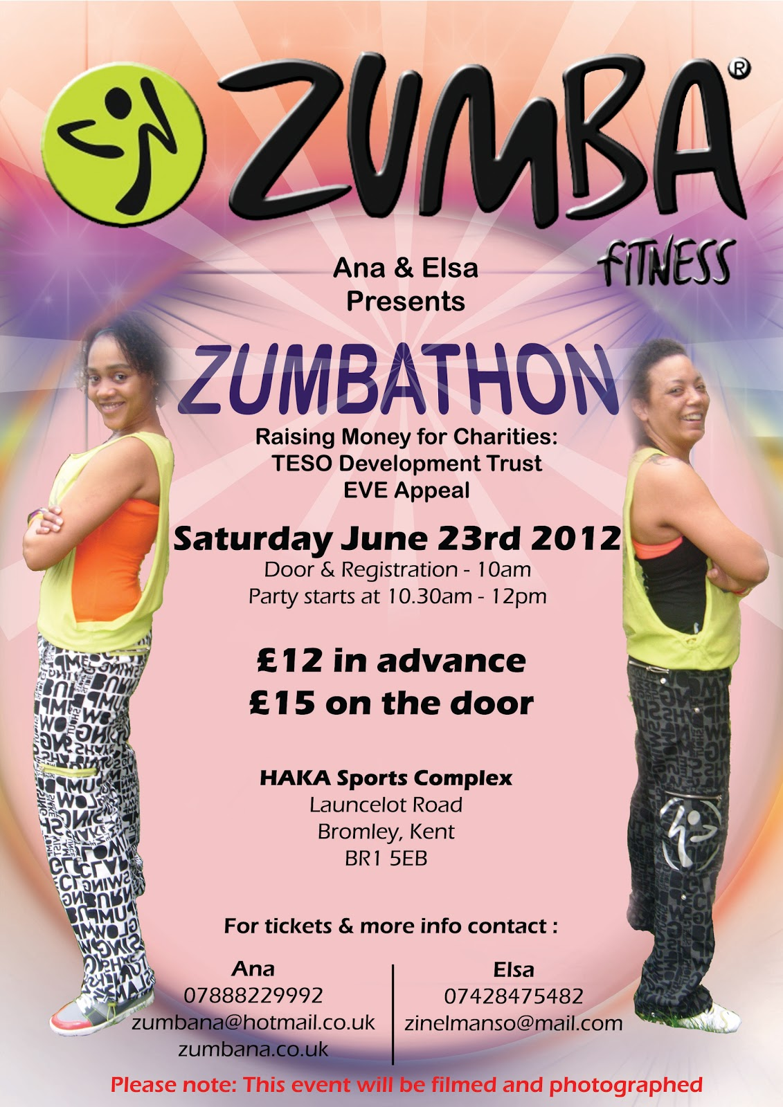 Zumbathon Poster What's on in Whitefoot...