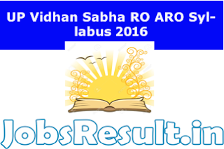 UP Vidhan Sabha RO ARO Syllabus 2016