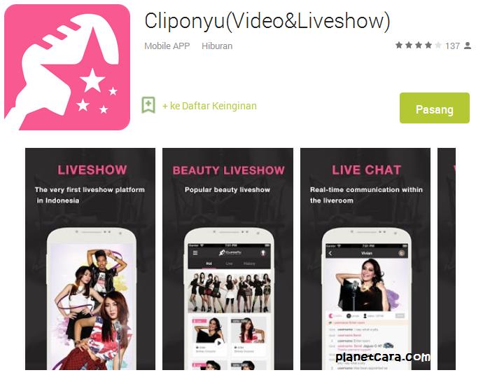 CliponYu for Android - Cara Nonton Live Show CliponYu di HP Smartphone