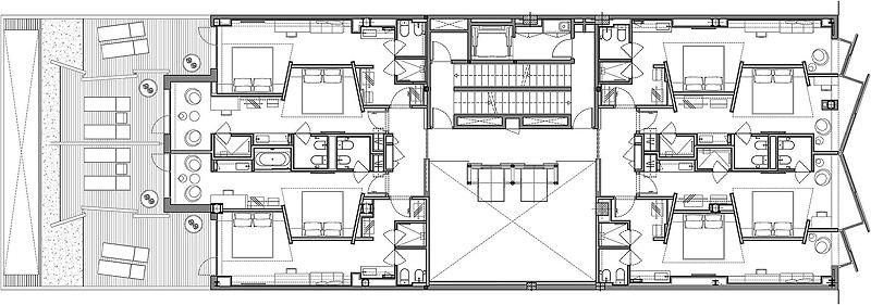 Hotel mirror de gca arquitectos asociados reflejos for Hoteles en planta
