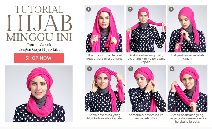 Tutorial Hijab Modern Remaja Foto Tutorial Hijab Mo...