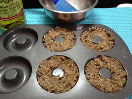 bagels in the donut pan