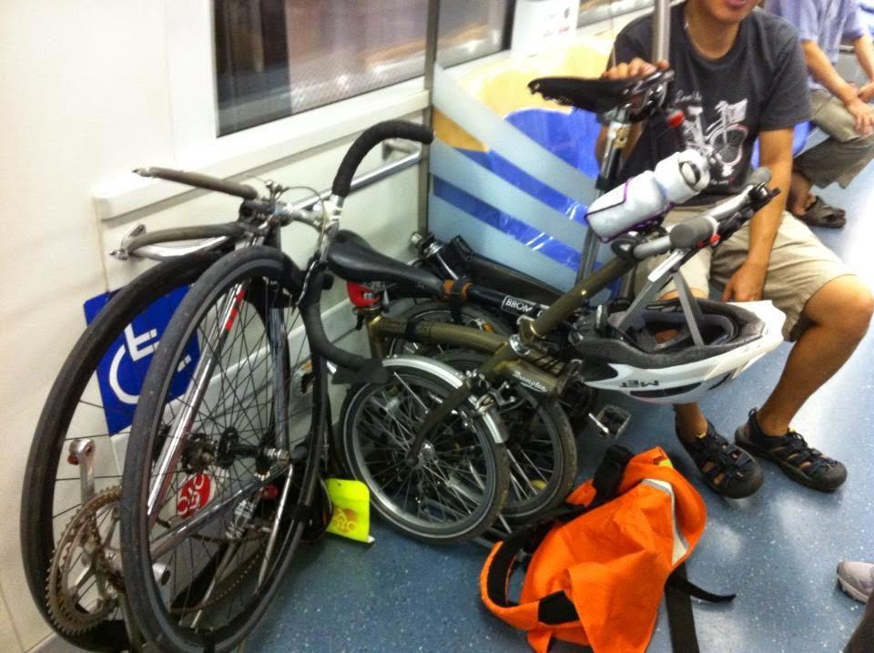 how to bring bike in train