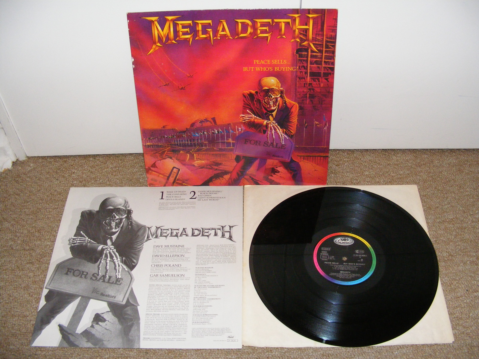Vinilos Vinyl Megadeth Peace Sells But Who S Buying