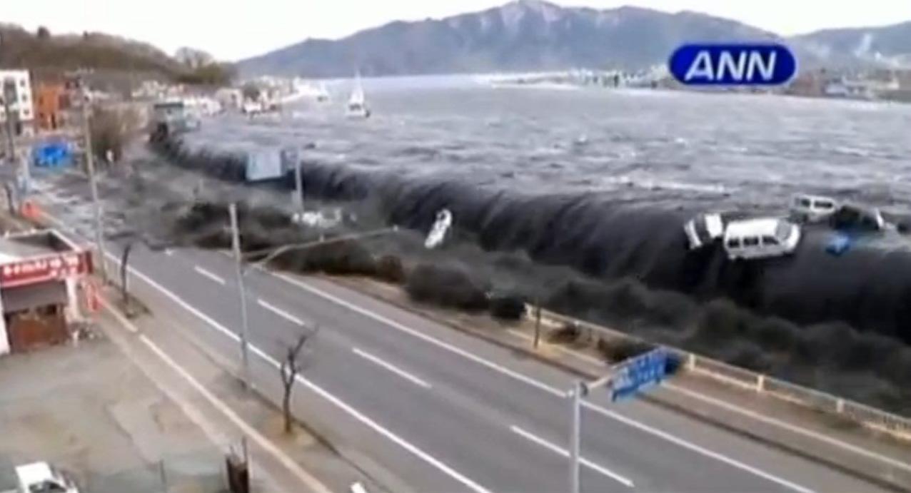 Un fuerte sismo con una