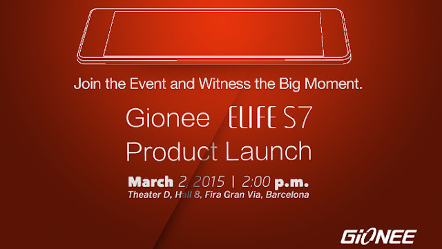 Gionee MWC 2015 Invitation