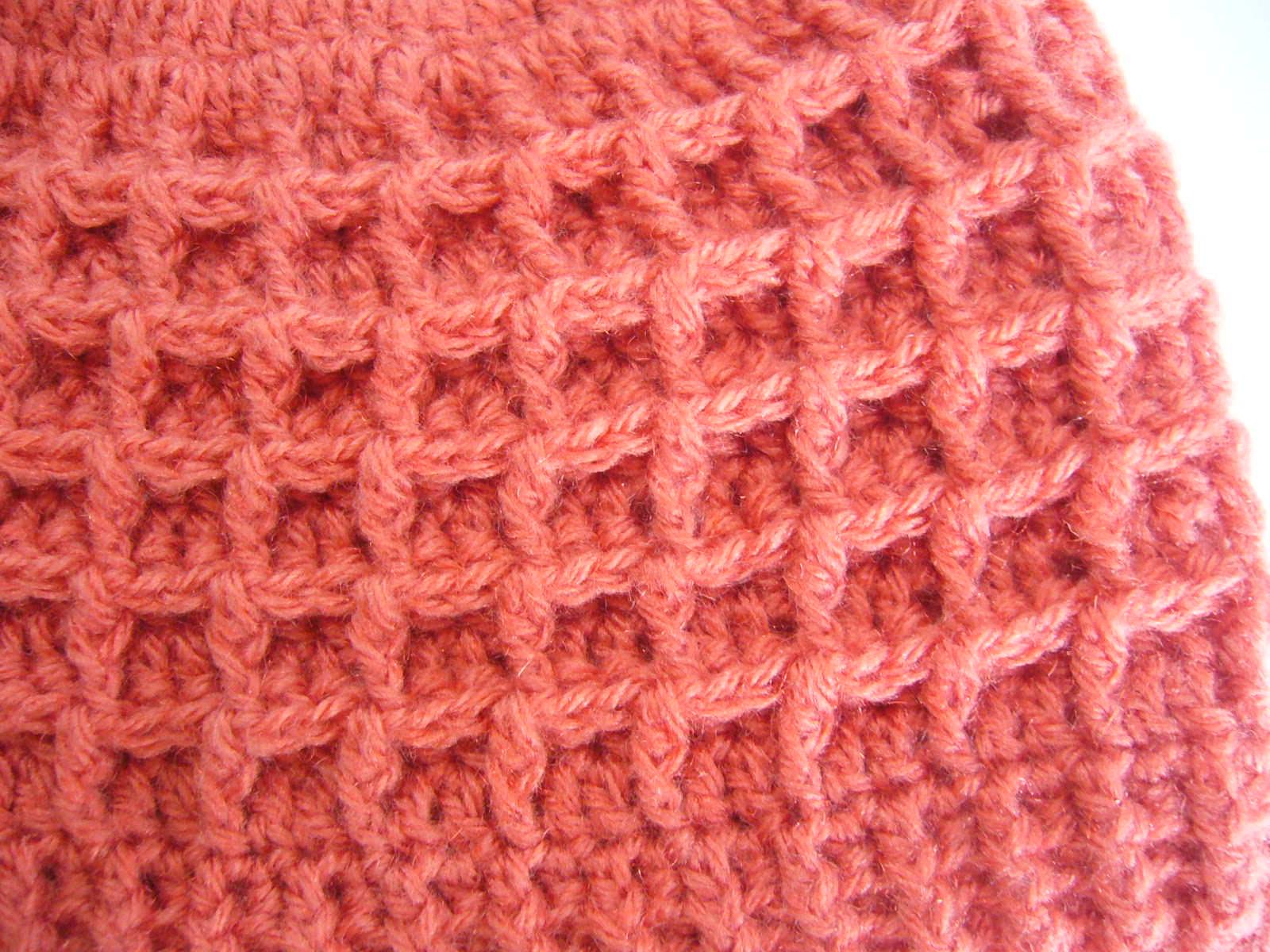Crochet Patterns Waffle Stitch : Crochetkari: Crochet Waffle Stitch Hat Pattern