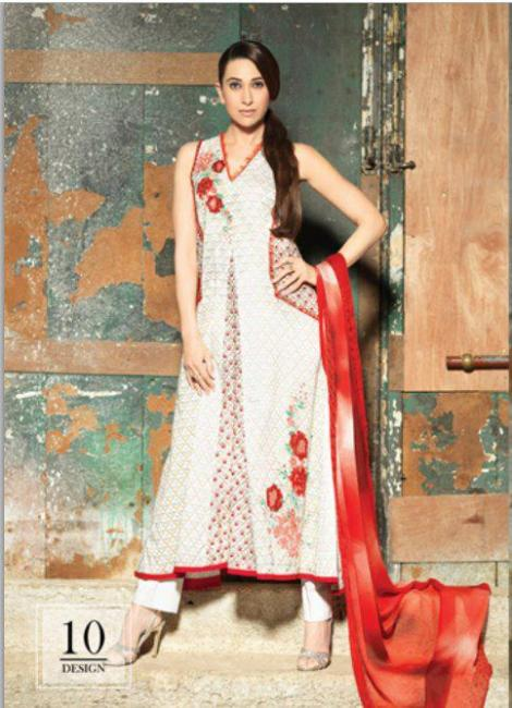 Karishma Kapoor1 - Karishma Kapoor photoshoot for Crescent Lawn 2012 