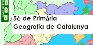 Els de 5è estem estudiant a Medi Social la geografia de Catalunya.