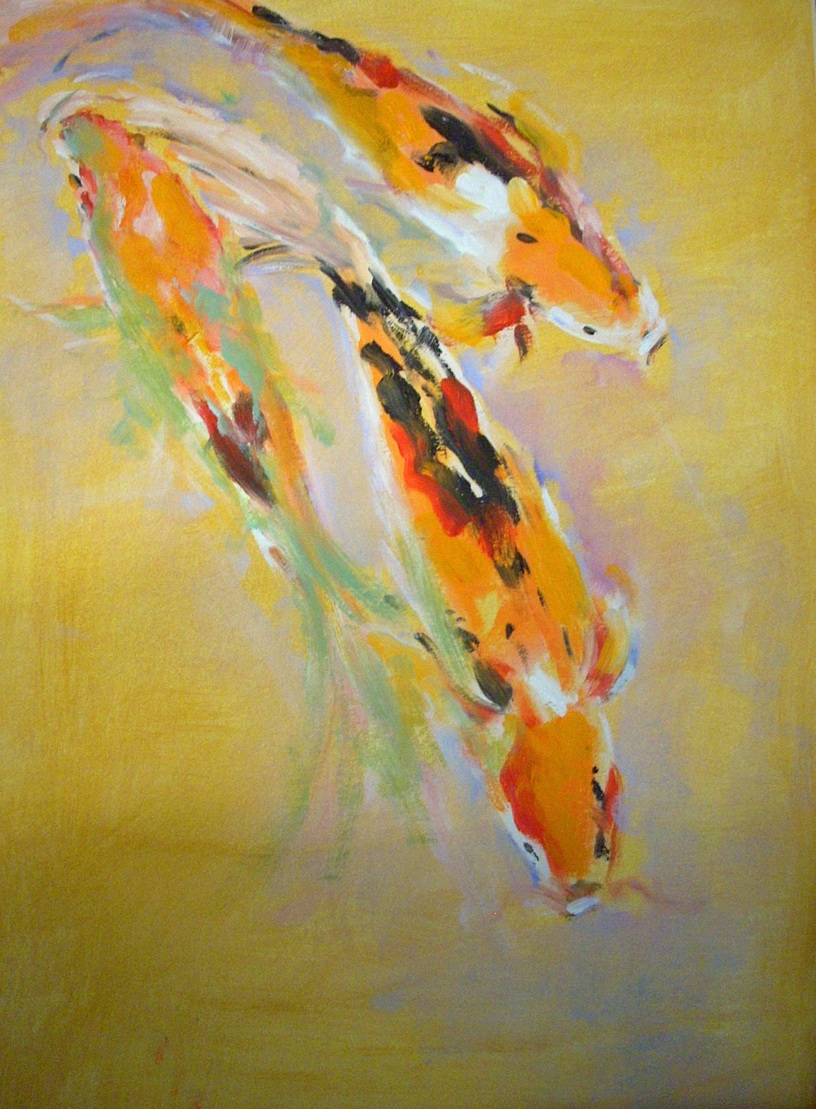 Welcome to alicepaints my new animal paintings for Japanese koi painting