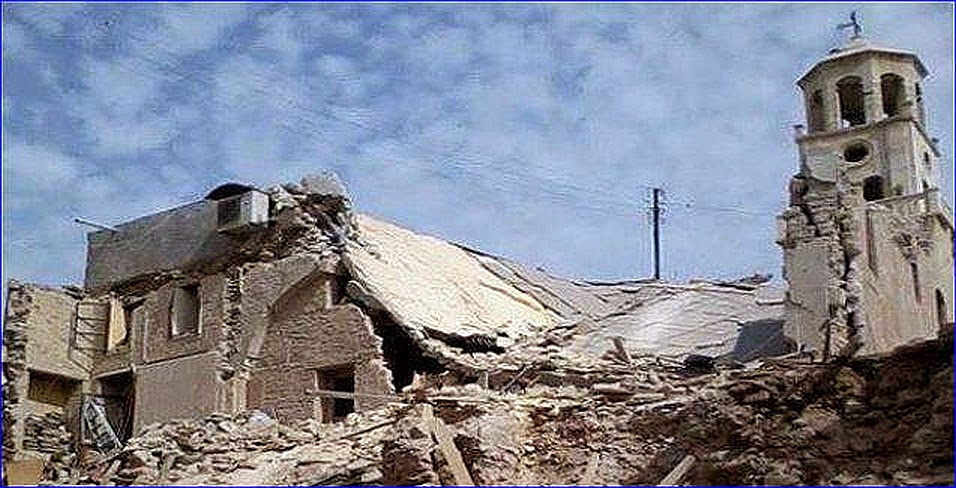 The St. Odisho Assyrian Church in Tel Tal, Syria, was bombed by ISIS yesterday.