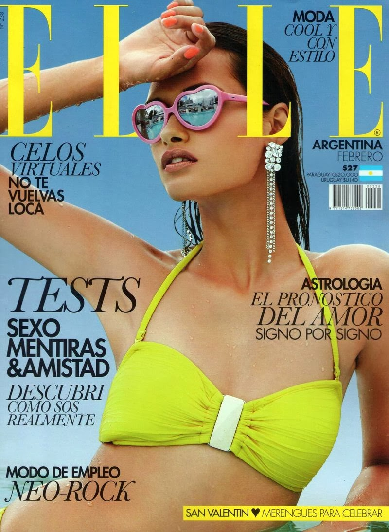 Gizele Oliveira Photos from Elle Argentina Magazine Cover February 2014 HQ Scans
