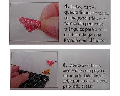 galinha de fuxico - com PAP (DIY)