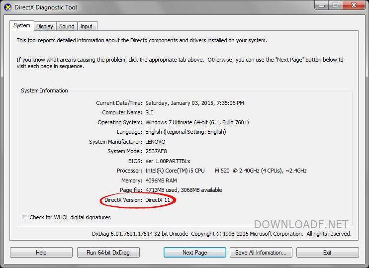 скачать программу directx 11 для windows 7