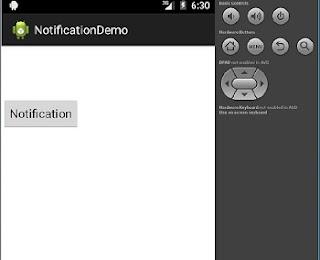 notification output 1