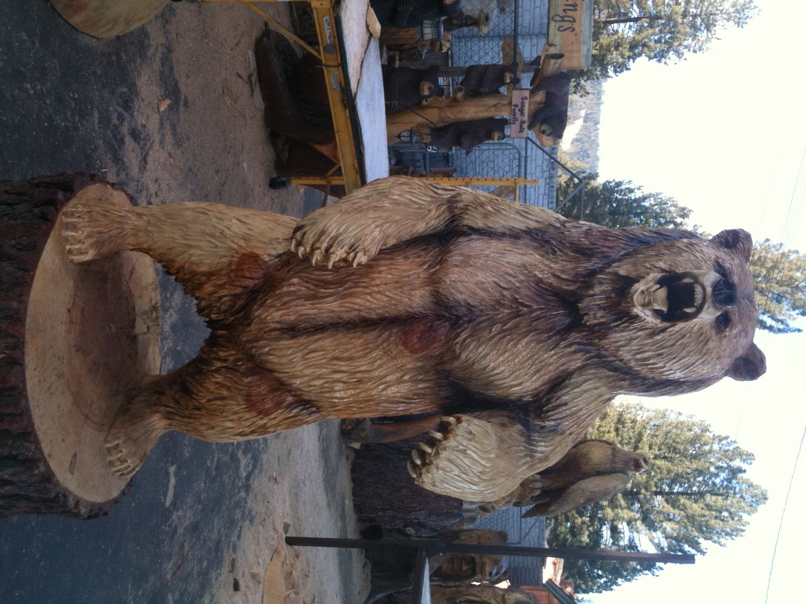Images about chainsaw carving favorite bear ideas on