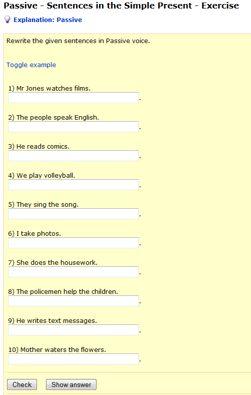 http://www.englisch-hilfen.de/en/exercises/active_passive/sentences_simple_present.htm
