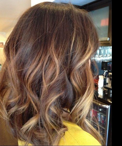balayage ombre highlights dark hair
