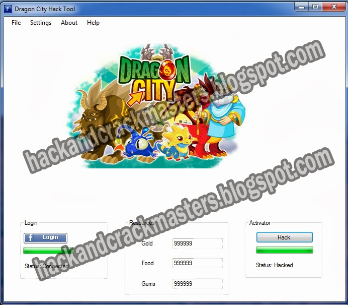 Dragon City Hack Cheat Tool v2.1.1 Free Download 2013