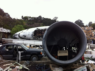 The airplane crash set from Steven Spielberg's War of the Worlds.
