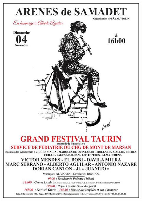 ARENE DE SAMADET - MONT DE MARSAN 04-11-2018. GRAN FESTIVAL TAURINO