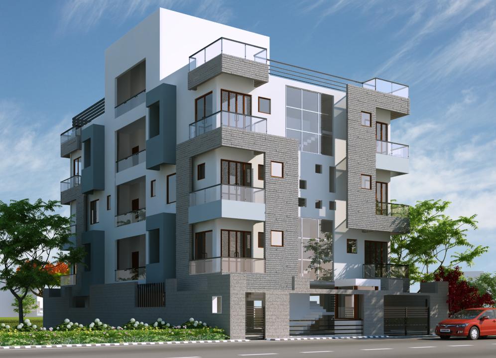 Front design of aportment joy studio design gallery for Modern flats exterior design