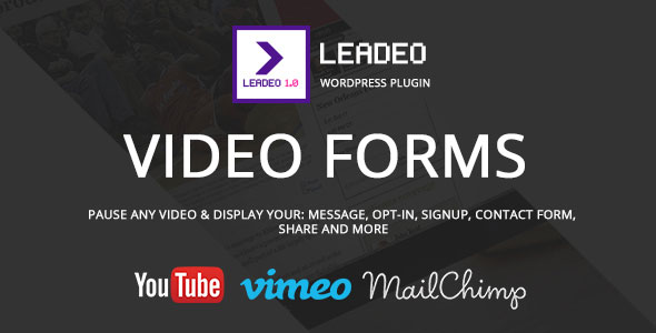 Free download latest version of Leadeo V1.5.1 WordPress Plugin for Video Marketing