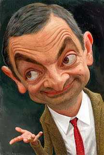 Gambar Karikatur Mr Bean Artis Hollywood Rowan Atkinson