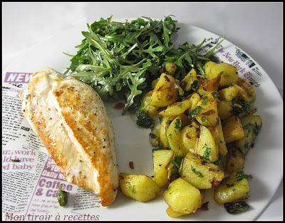 Sauté de pommes de terre au curry