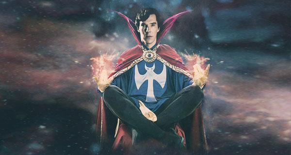 Fan-art Benedict Cumberbatch como Doctor Extraño